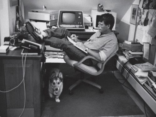 Stephen King in his natural habitat.
