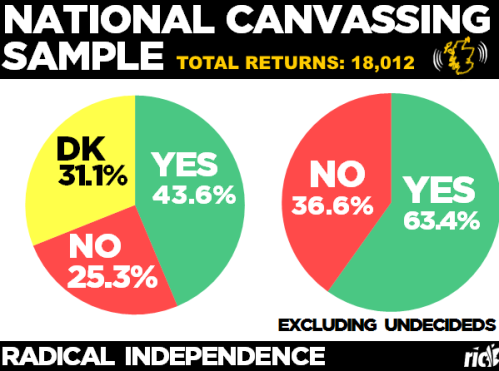Radical Independence's mass-canvass results (August 2014).